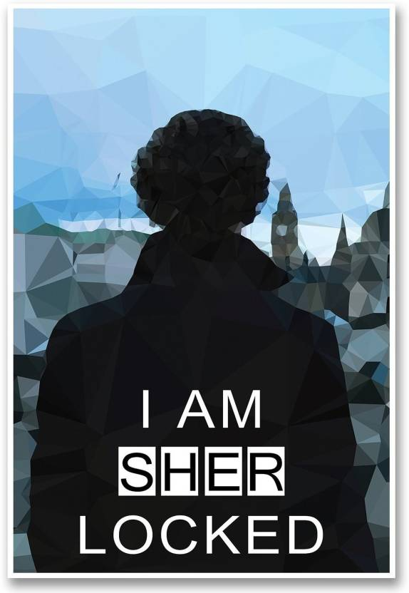 Sherlock Holmes Poster Bbc Tv Series I Am Sherlocked