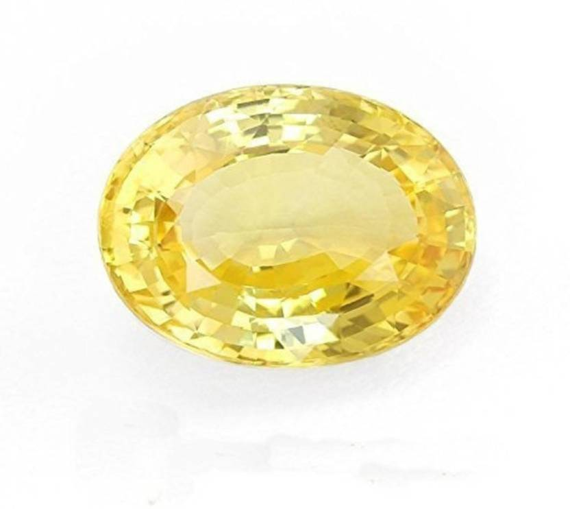kartik gems Yellow Sapphire (Pukhraj) Natural Original Top