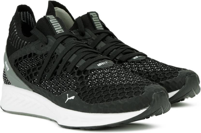50dfb890d31 Puma IGNITE NETFIT Running Shoes For Men - Buy Puma Black-QUIET ...
