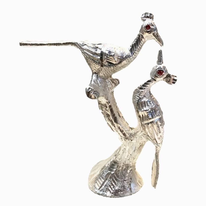 JunaKart JunaKart Silver Brass Love Birds Showpiece