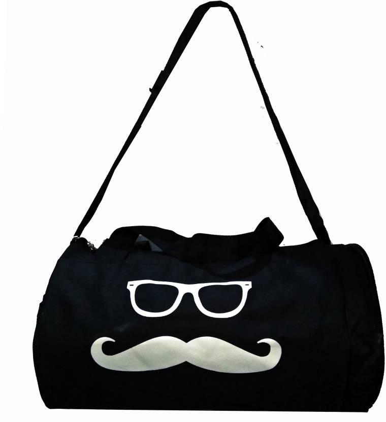 Star X Black Mustache and Shades kit bag gym bag - Buy Star X Black ... 2ddef2fe913d6