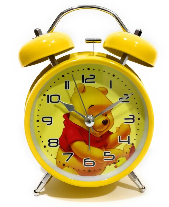FunkyTradition Analog Yellow Winnie the Pooh Old Style Alarm,Kids
