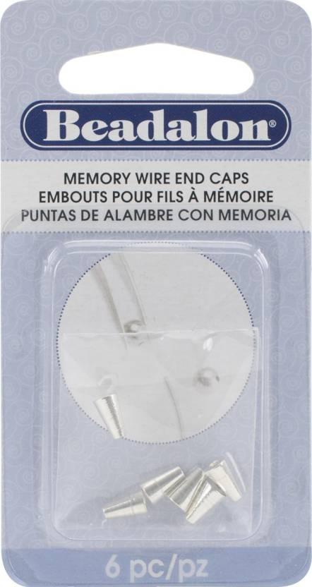 Beadalon Memory Wire End Caps Cone 6 5Mm 6 Per Package - Silver