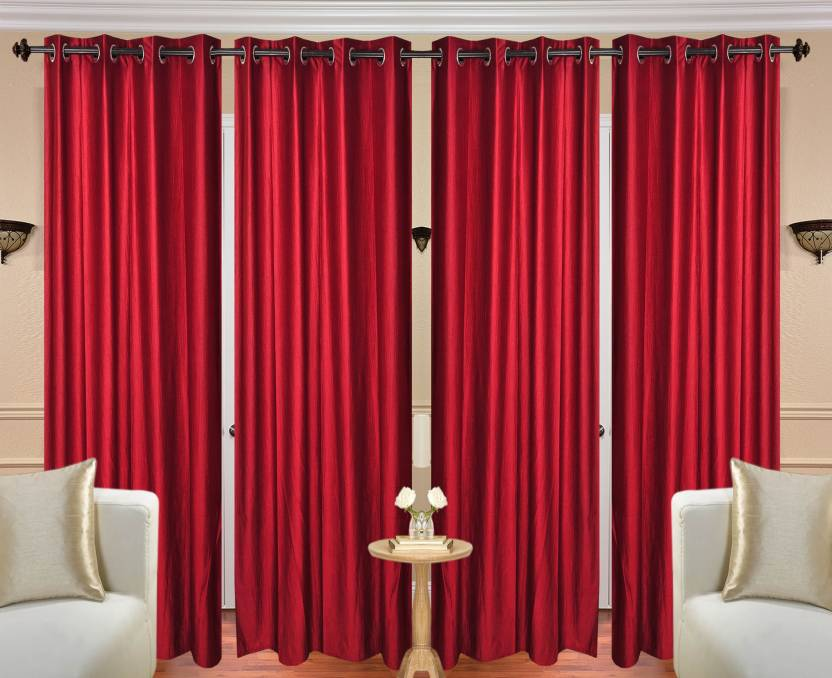 Atoz Home Decor 213 5 Cm 7 Ft Polyester Door Curtain Pack Of 4