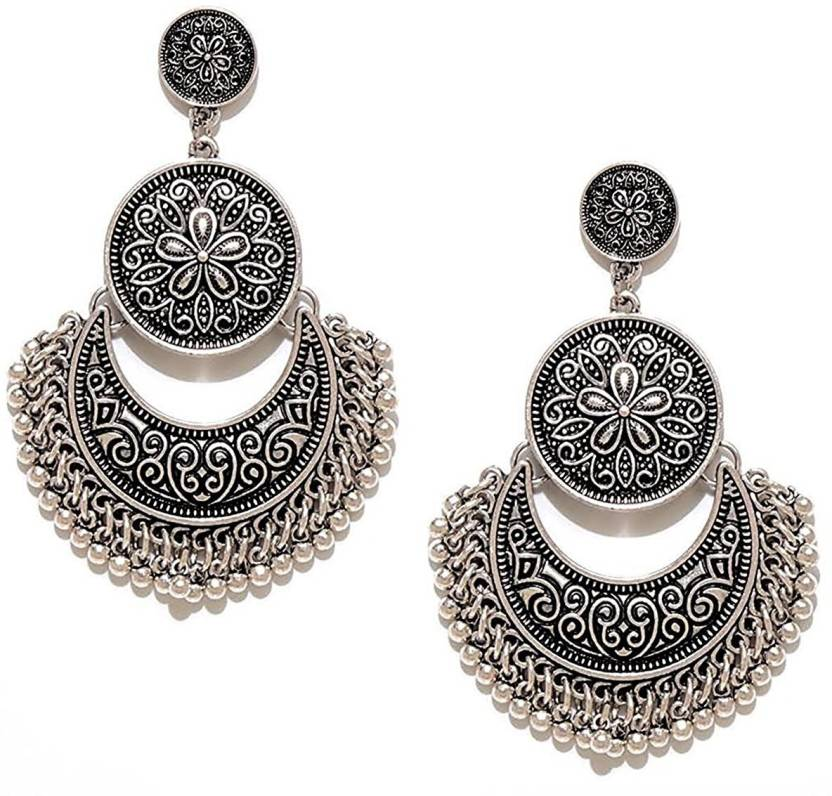 You Bella Stylish Fancy Party Wear Jewellery Alloy Dangle Earring