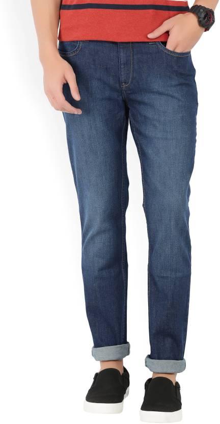 Lee Skinny Mens Dark Blue Jeans