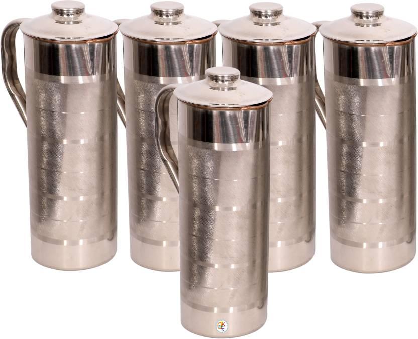 eb7de63a159 KDT Steel Copper Fridge Bottle - Set of 5 Water Jug Set Price in ...