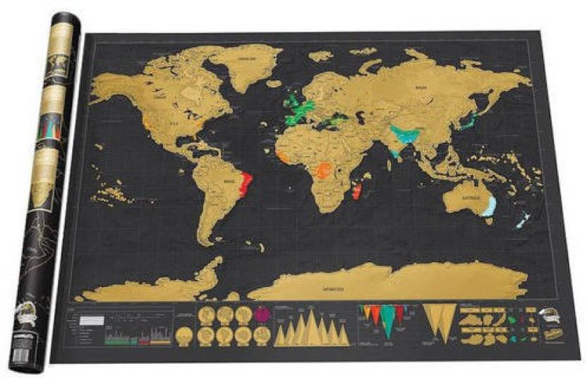 World wall scratch map creative bedroom office decoration 324 x world wall scratch map creative bedroom office decoration 324 x 23 inch paper print gumiabroncs Image collections
