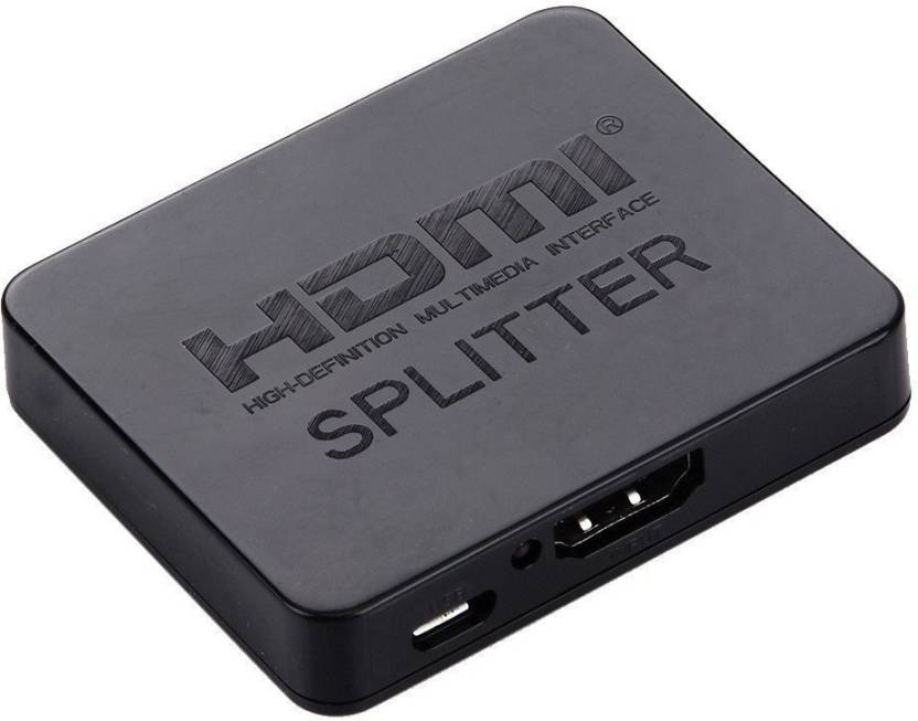 Axcess 2 Port HDMI Splitter - 1 In 2 Out - Support 4k 2k 3D Full HD