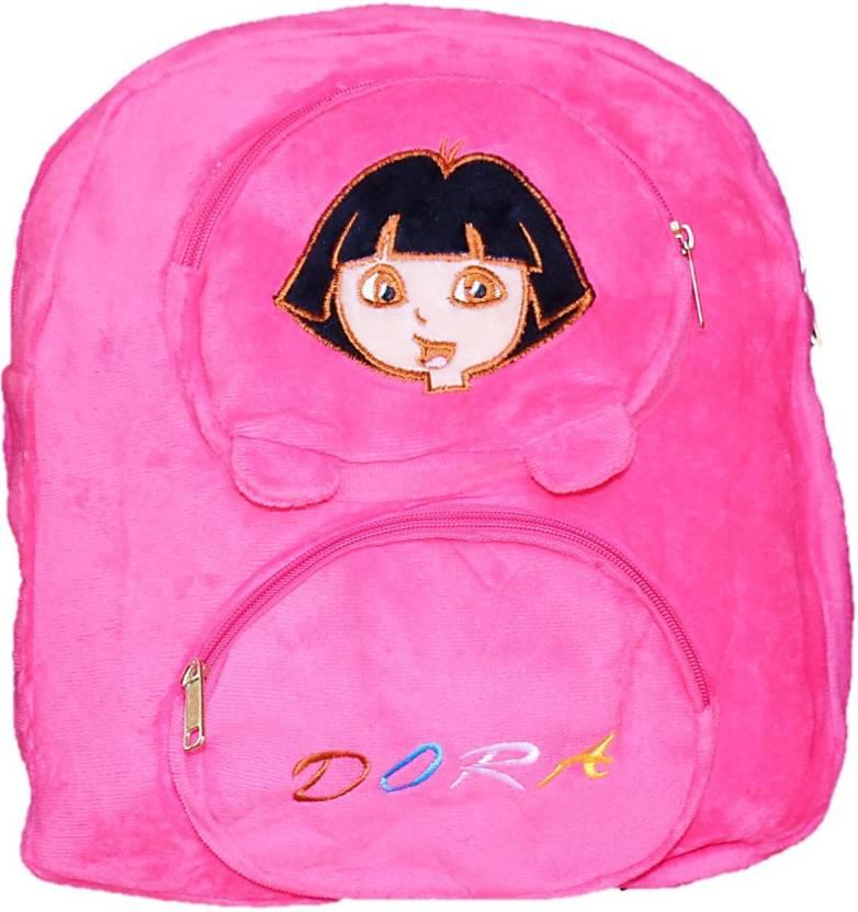 toyjoy Bestselling Dora Explorer 3 compartment school bag 35cm for kids girls  plush soft toy - 35 cm (Pink) 77f8815460fbc