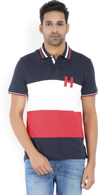 4e5be6213bb23b Tommy Hilfiger Color block Men Polo Neck Multicolor T-Shirt - Buy Blue Tommy  Hilfiger Color block Men Polo Neck Multicolor T-Shirt Online at Best Prices  in ...