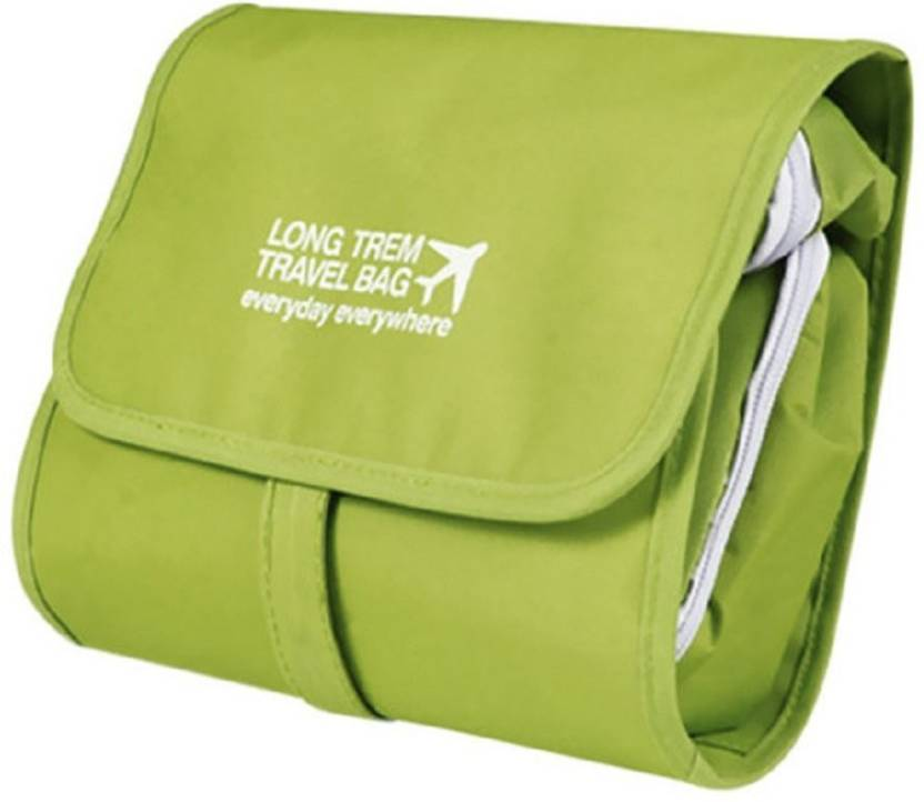 87d589d1b9 Swarish Foldable Long Term Multipurpose Hanging Toiletry Travel Bag  Organizer-Green Travel Toiletry Kit (Green)