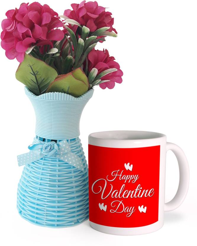 Tied Ribbons Valentines Day Best Gift for Boyfriend girlfriend husband wife lover Flower Vase with Flower