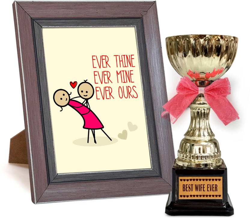 Tied Ribbons Valentine Day Special Gifts for Wife Quoted Frame with ...