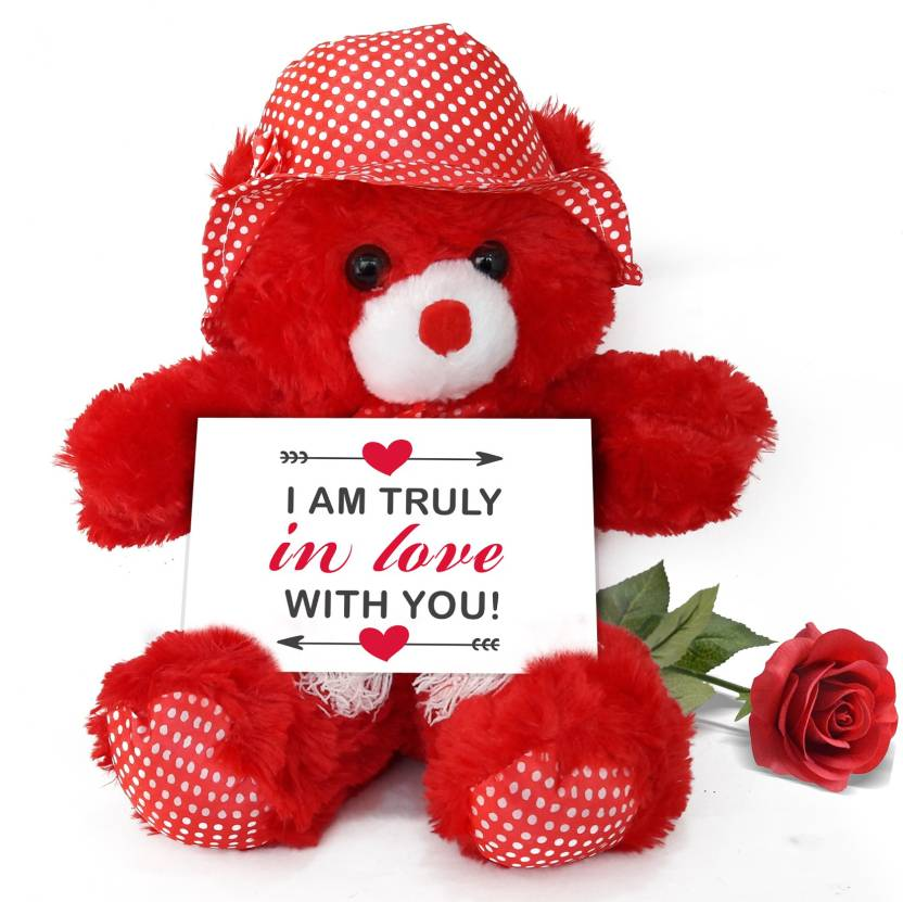 18f7b2bef207 Tied Ribbons Valentines Day Special Gifts for lover Boyfriend girlfriend  husband wife Teddy with Greeting Card and Rose Soft Toy Gift Set Price in  India ...