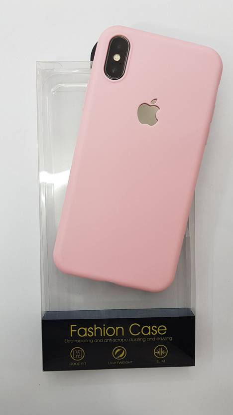 competitive price ccbf2 4de47 Midkart Back Cover for Matte Baby Pink Colour Logo Cut Hybrid Silicon ONLY  for iPhone X (TEN) Soft Rubber with All Side & Camera Lens Protection