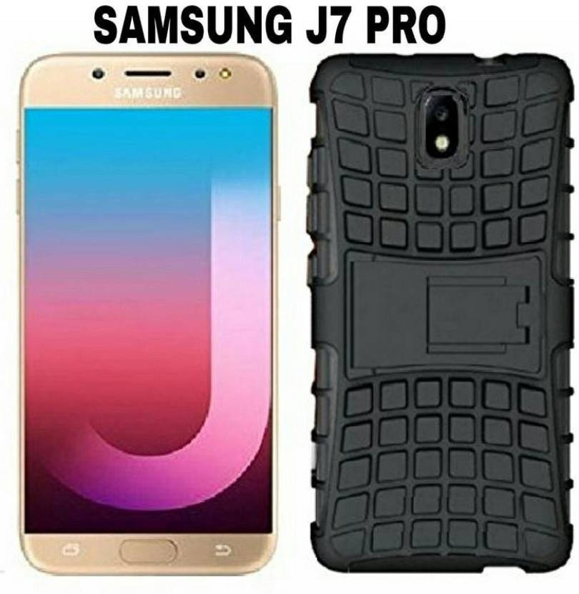 PAEDICON Back Cover for Shockproof Hybrid Kickstand Back Case Defender Cover For Samsung Galaxy J7 Pro (2017) - BLACK (Black, Shock Proof, Rubber, Plastic)
