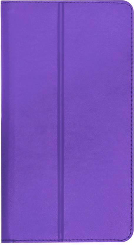 ACM Flip Cover for Lenovo Phab 6.98 Purple, Cases with Holder