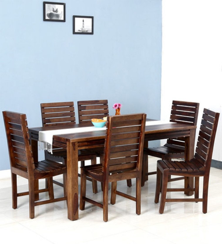 NIDOO Nidoo Sheesham Wood Dining Set Six Seater Solid Wood 6 Seater Dining  Set
