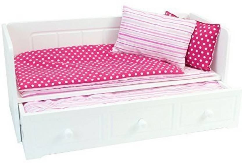 Sophias 18 Inch Doll Furniture White Day Bed With Trundle And