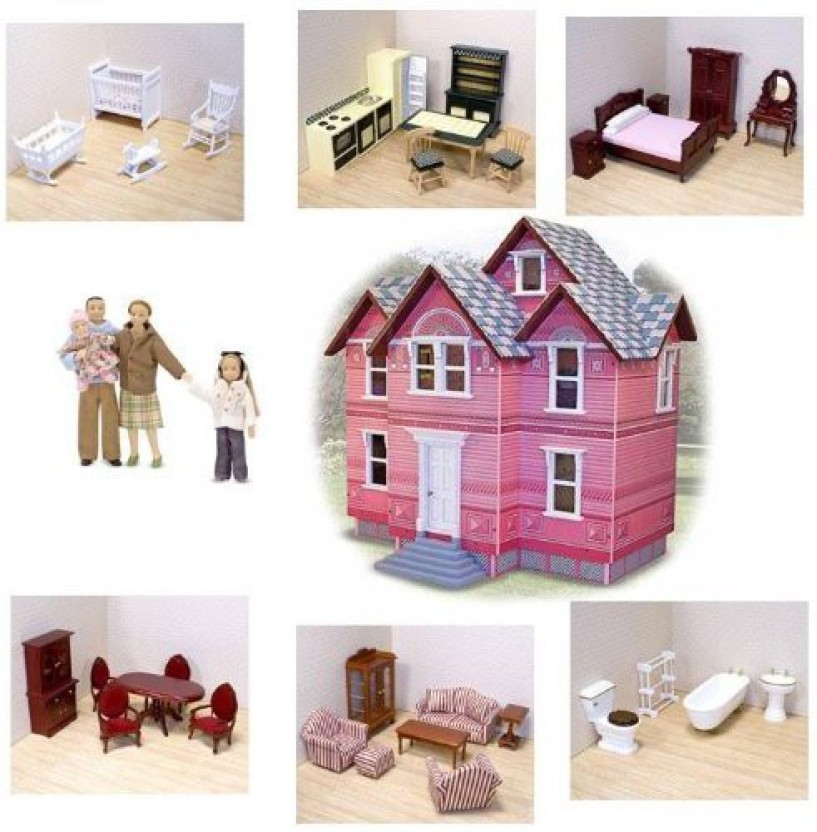 Melissa U0026 Doug Victorian Doll House And Furniture Sets