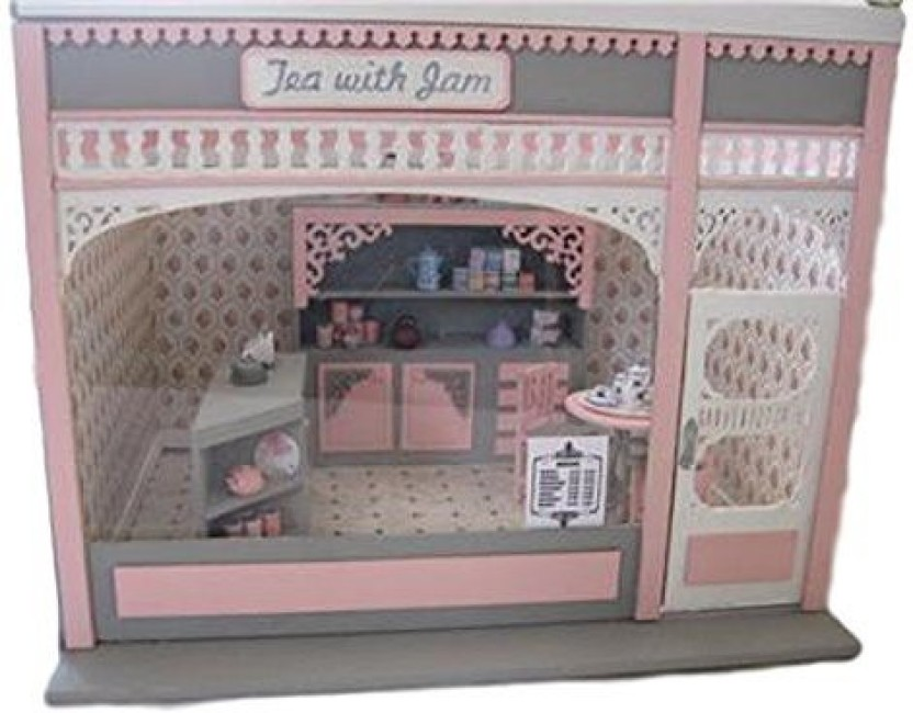Doll house miniature furniture and miniatures appliances living room home decors