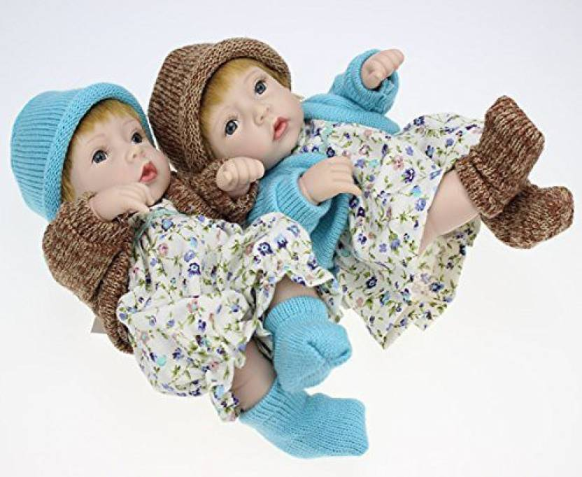 Generic Couple 11 Waterproof Mini Boy And Girl Silicone Doll Kits