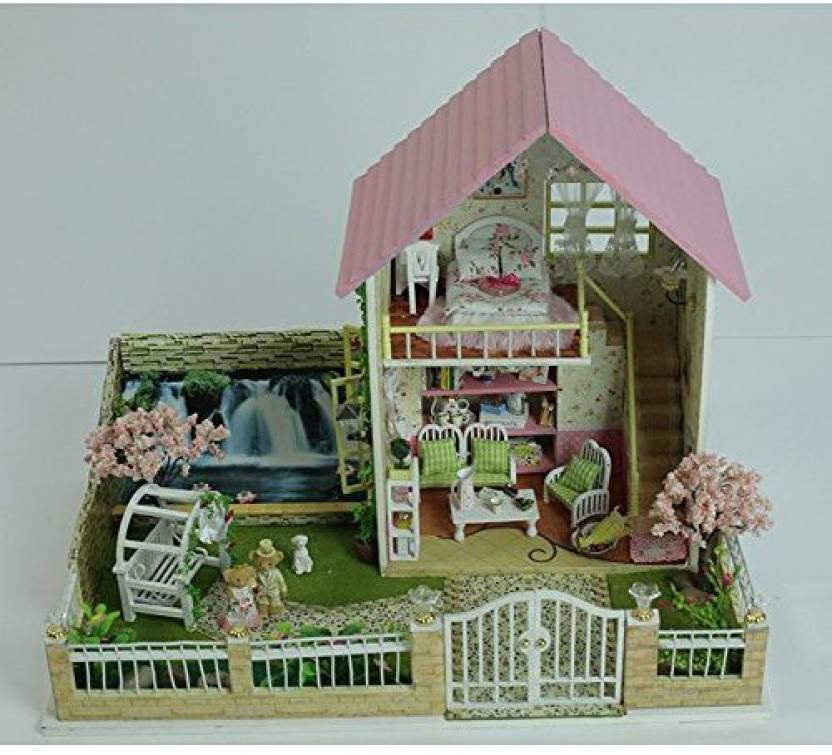 Orgrimmar Wooden Dollhouse Miniatures Diy House Kit Birthday