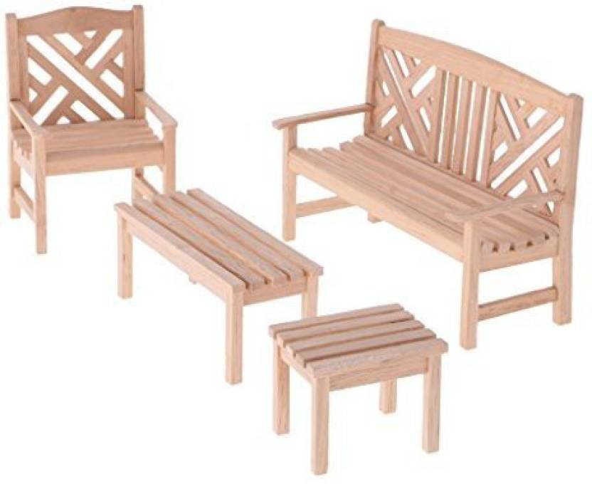 Magideal Dollhouse Miniature 1 12 Garden Furniture Wooden Table