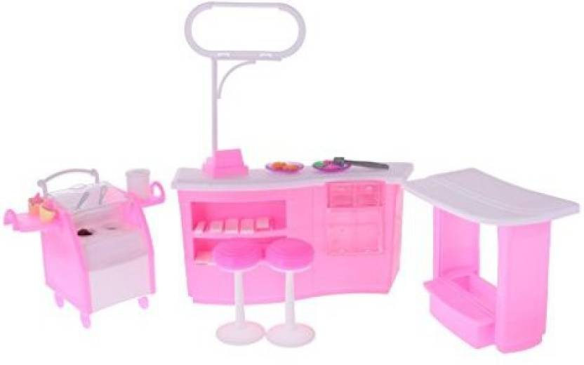 Magideal Dollhouse Furniture Candy Ice Cream Shop Play Set Kit For