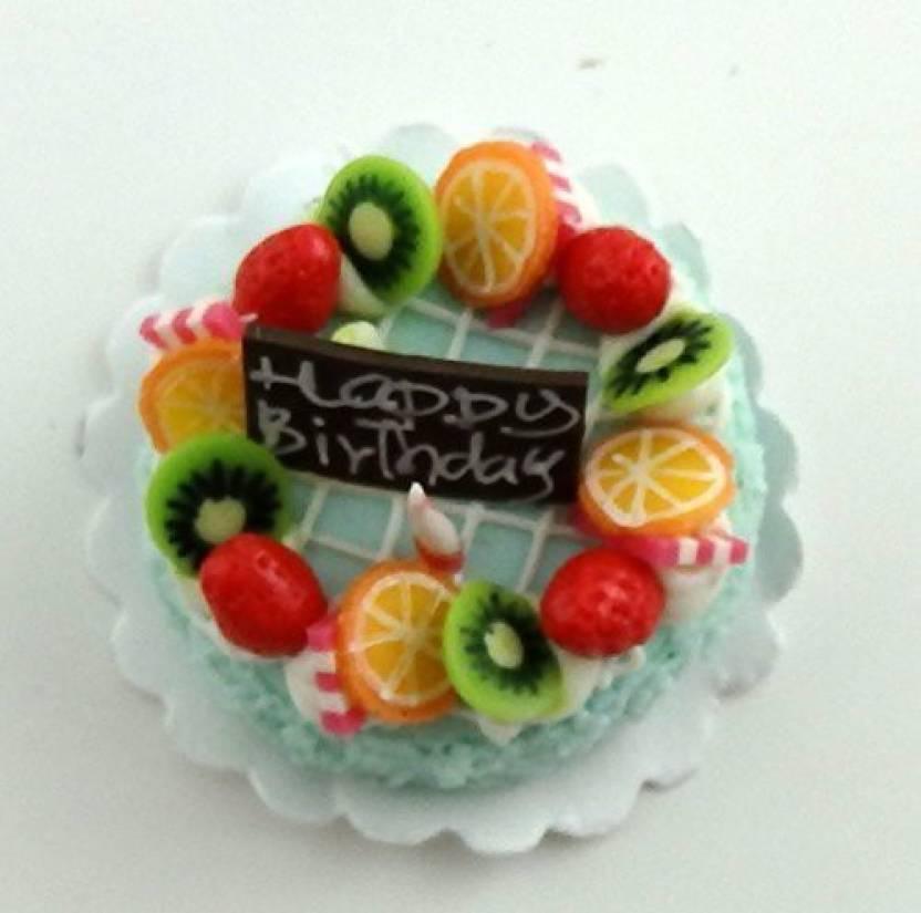 Generic Jane Dollhouse Fruit Decorated Birthday Cake Celebration