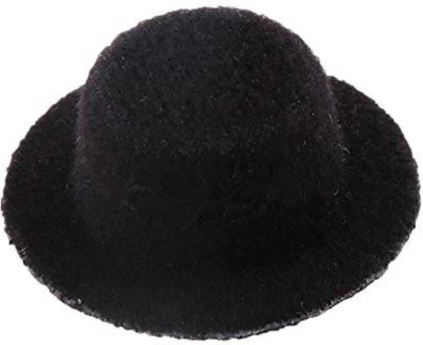 bc604b1f829 Hrzyecommerce Black Bowler Hat 1:12 Scale Handmade Doll House Miniature  Clothing D Cor