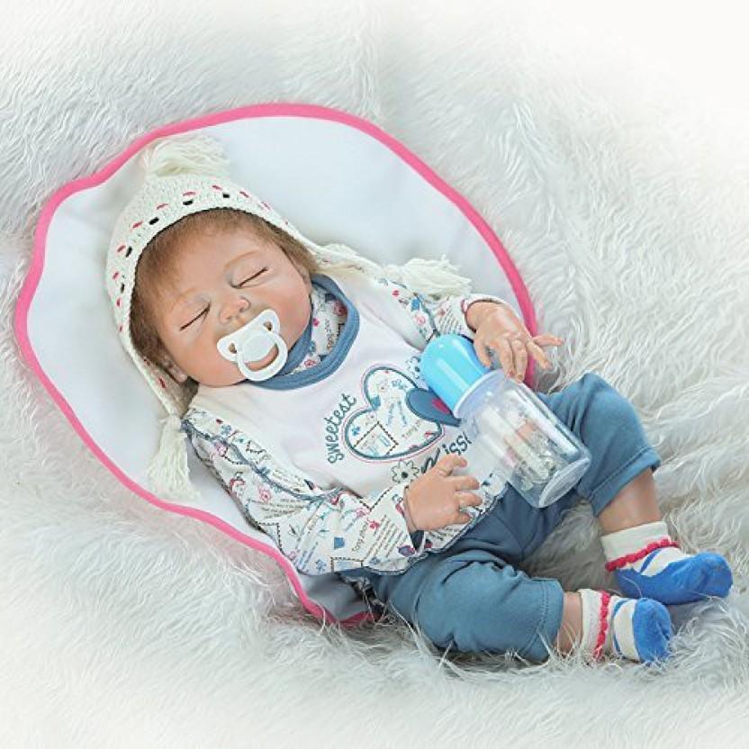 22 inches Full Body Silicone Vinyl Reborn Doll Lifelike Anatomically Correct Boy