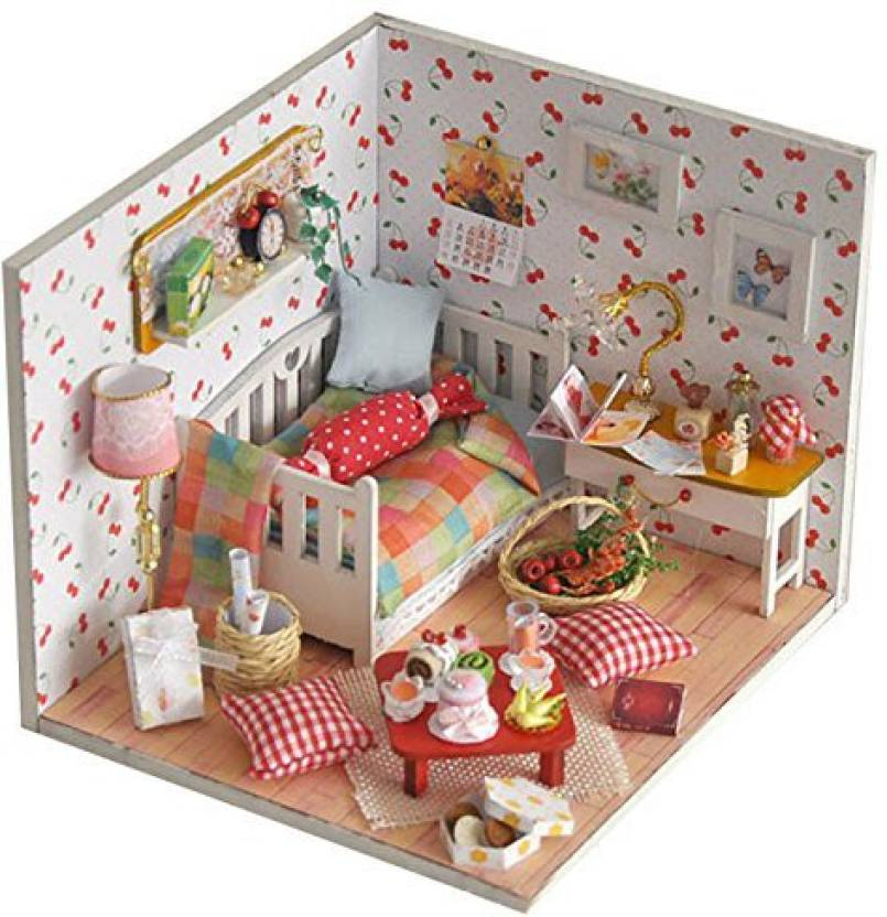 Generic Wooden Diy Miniature Dollhouse Handmade Creative Room With