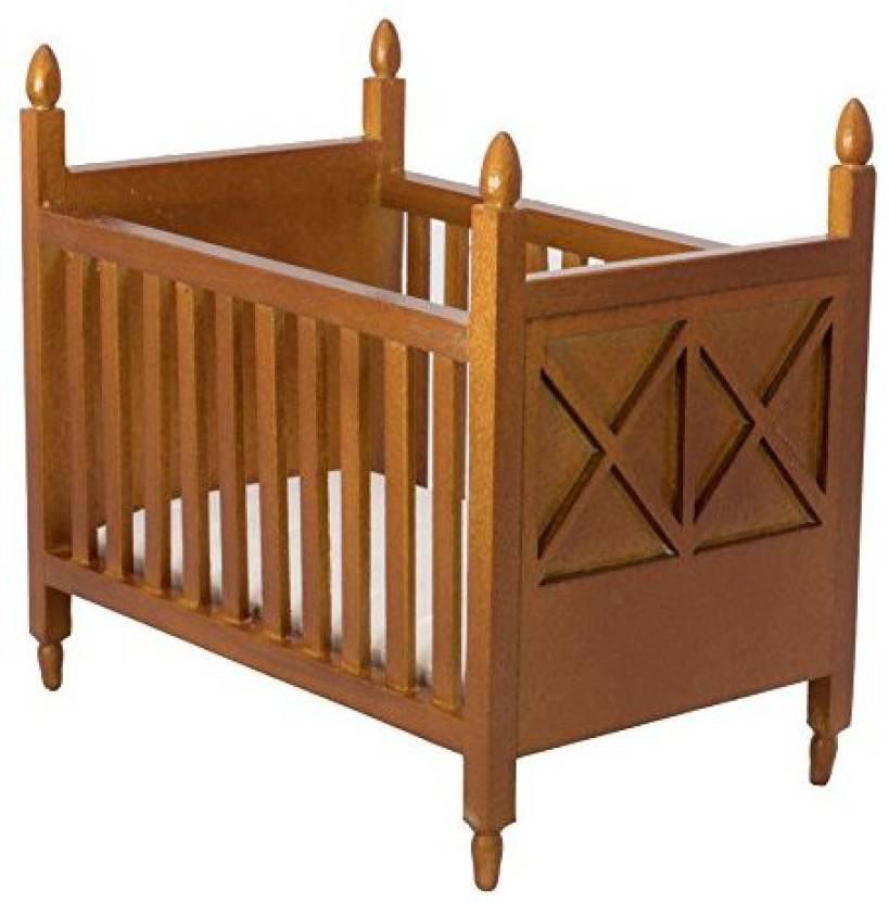 Incredible Inusitus Wooden Dollhouse Crib Dolls House Furniture Bed Download Free Architecture Designs Scobabritishbridgeorg