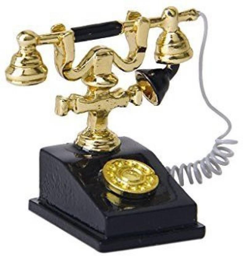 Sodialr Retro Telephone 1 12 Dollhouse Miniature Retro Phone