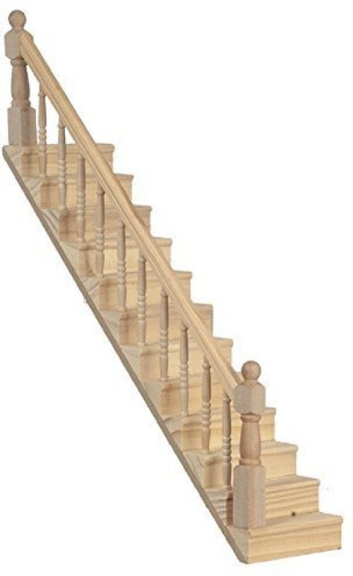 Generic Jane Dollhouse Staircase With Banister Ready Made Builders Timber  Diy Miniature