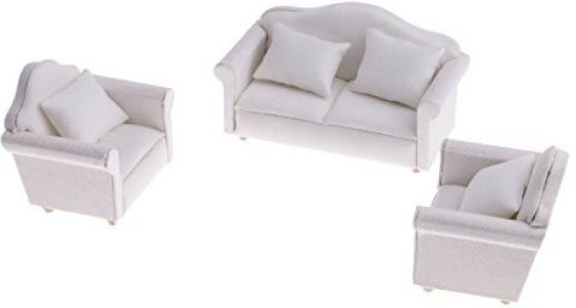 Swell Monkeyjack 1 12 Scale White Sofa Cushion Furniture Set Machost Co Dining Chair Design Ideas Machostcouk