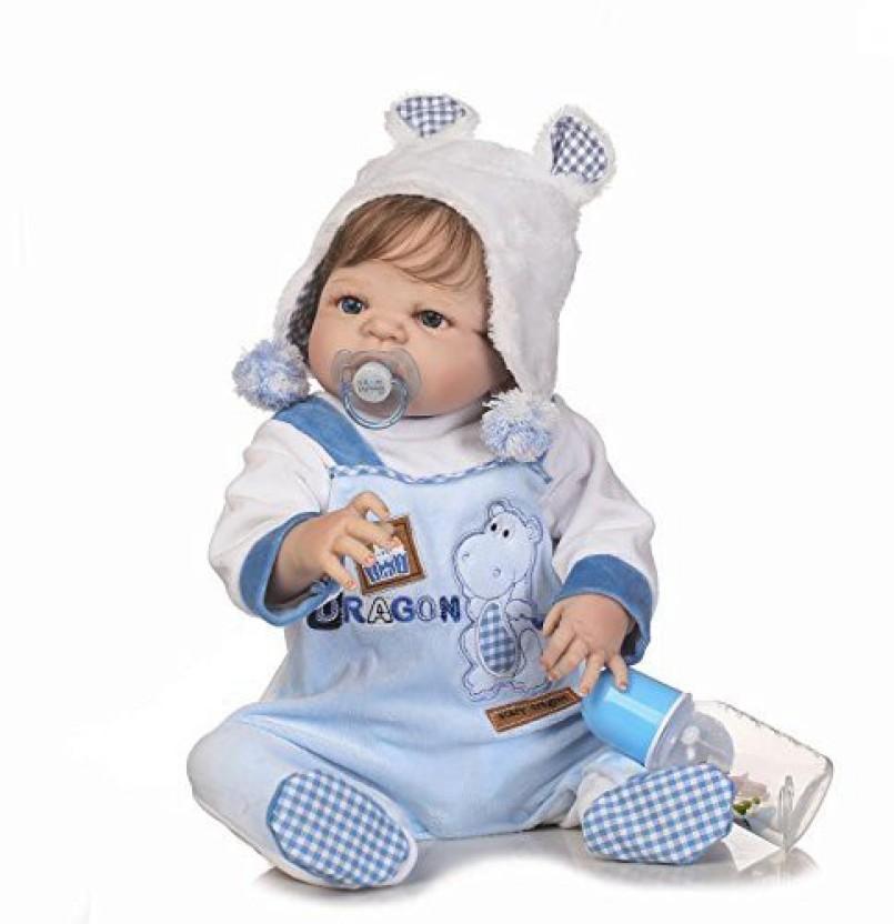 """Reborn Baby Dolls Silicone Full Body Lifelike Baby Doll Boy 18/"""" Newborn Dolls"""