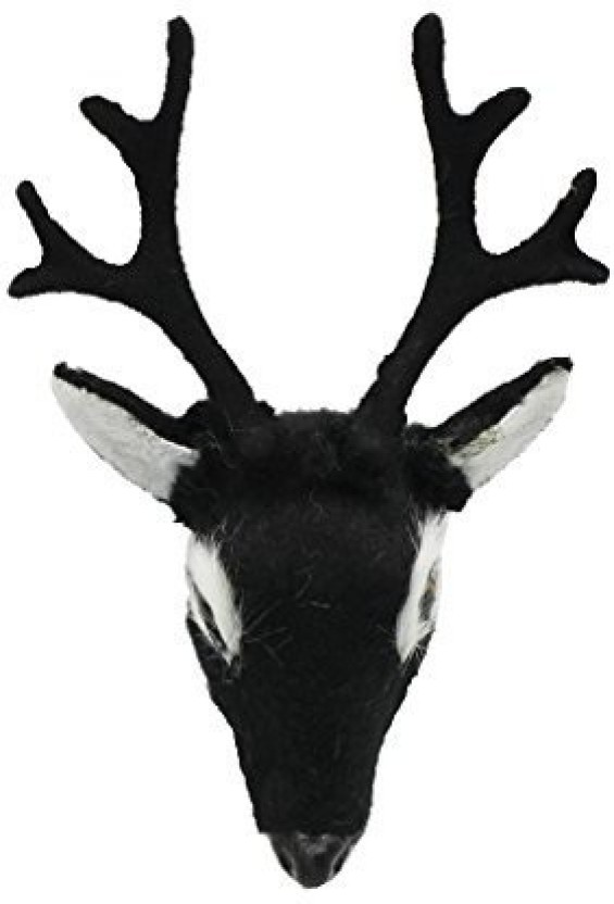 Mini Crafts Deer Head Model For 1//6 Dollhouse Wall Refrigerator Decor Brown
