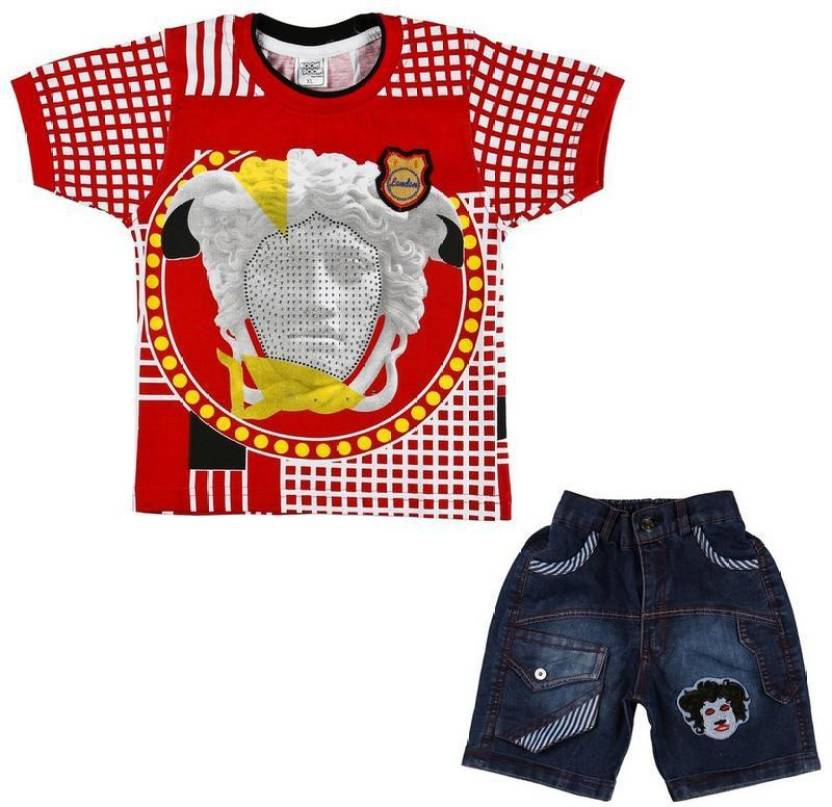 5fa48928b7db2 Kids Western Wear Boys   Girls Party(Festive) T-shirt Pant Price in ...