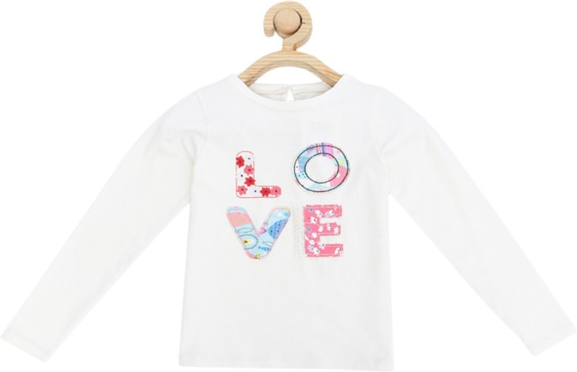 Allen solly girls applique cotton t shirt price in india