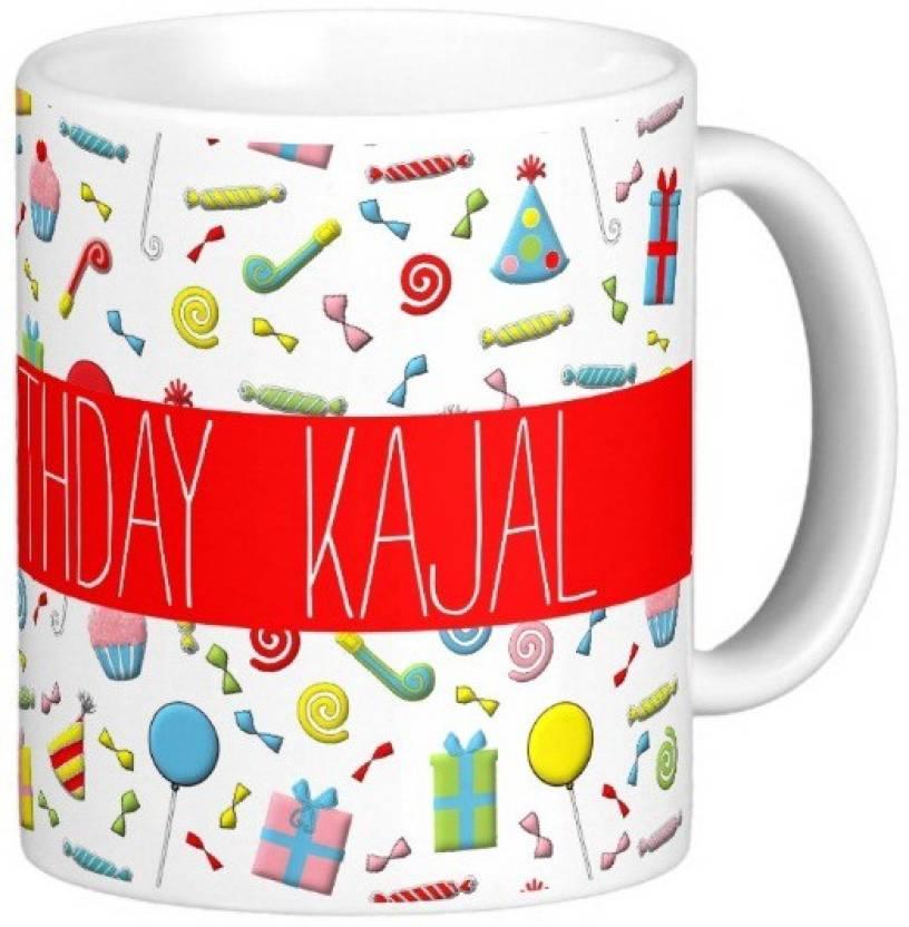 Golddust Happy Birthday Kajal Ceramic Mug Price In India Buy