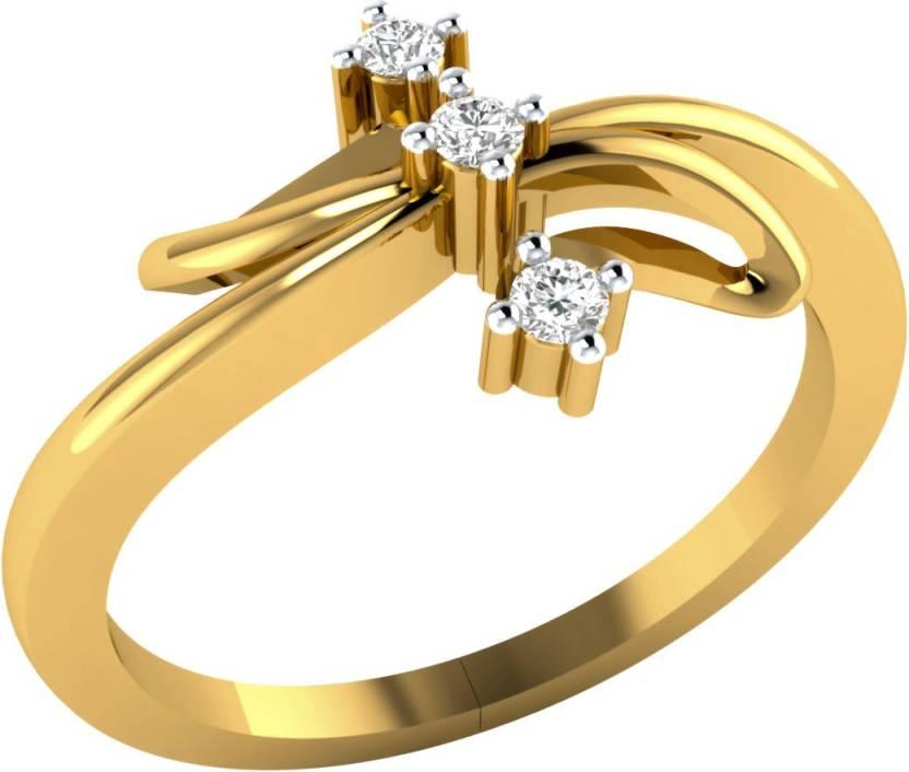 Demira Jewels Classy Valentine Gift 14kt Diamond Yellow Gold Ring