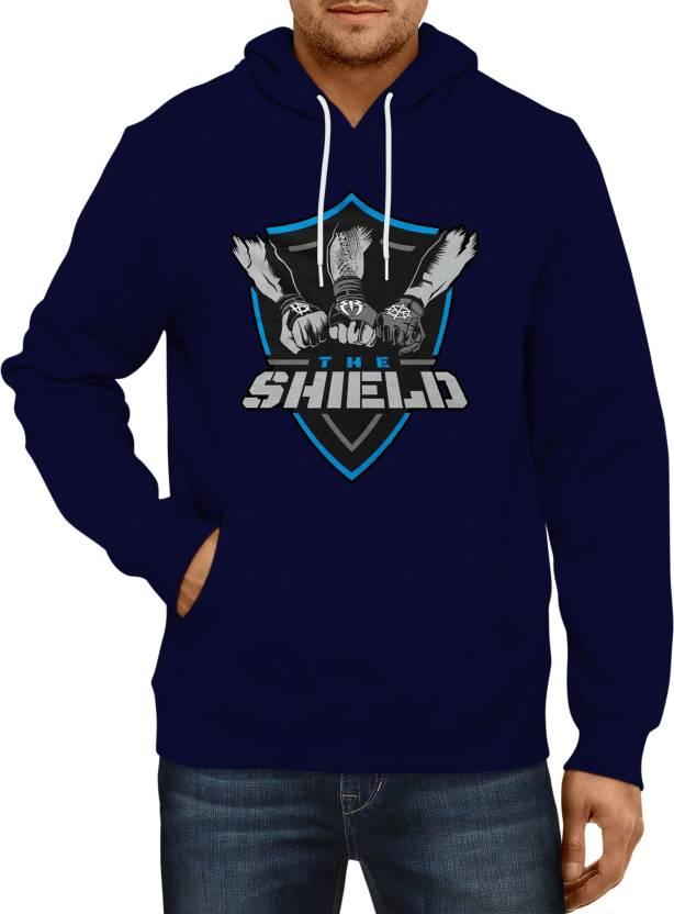 79acd925 Wwe Shield Sweatshirt Hoodie For Men Printed Men Hooded Blue T-Shirt - Buy Wwe  Shield Sweatshirt Hoodie For Men Printed Men Hooded Blue T-Shirt Online at  ...