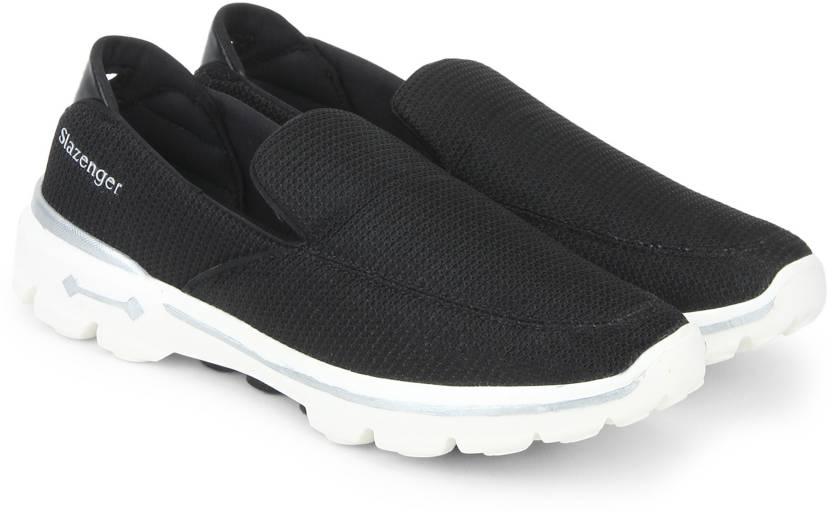 Slazenger Walking Shoes Walking Shoes For Men Buy Black Color