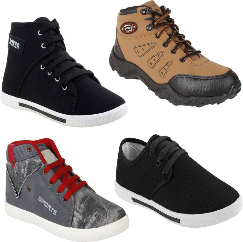 6c1888a86 Earton COMBO Pack of Casual Shoes-303-349-397-285 For Men (Multicolor)