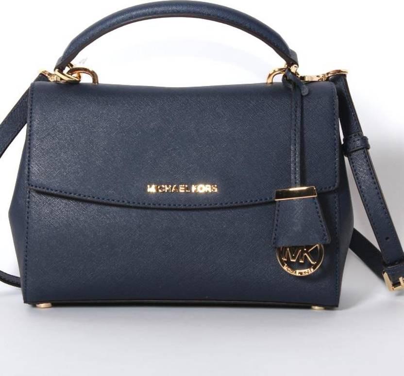da5e8d3cf34ed9 Michael Kors Women Casual Blue Genuine Leather Sling Bag Blue - Price in  India | Flipkart.com