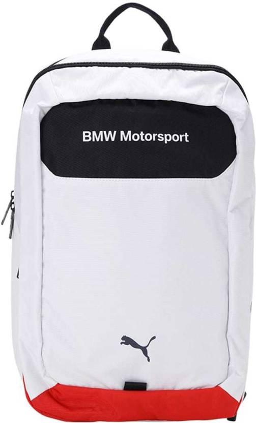 Puma BMW Motorsport Backpack 19 L Laptop Backpack White-Team Blue ... cc7d3b52ed3c7