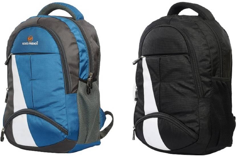 Good Friends New Festive Season 2018 School Bag Pack Of 2 Waterproof School  Bag (Blue 212fca91a469b